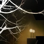 Illuminated branches and plaza (Basel), 2004 by Andrew Browne